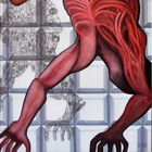 ECORCHE 3: huile sur toile , 200 x 100 cm oil on canvas, 78,7 x 39,4 in
